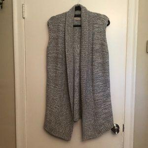 LOFT - Open Front Sleeveless Sweater Vest -Size M